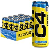 C4 Energy Drink 12oz (Pack of 12) - Frozen Bombsicle - Sugar Free Pre Workout Performance Drink with No Artificial Colors or