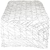 DII Woven Paper Decorative Metallic Table Runner for Holidays, Occasions, and Everyday Décor, 14x72, Silver