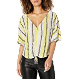 cupcakes and cashmere Women's atala Printed Crepe Front Dolman top