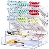 Acrylic Desk Organizer, Multi-Functional Pen Holder, Makeup Brush Organization, Pen Organizer Storage for Office, School, Hom