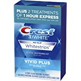 Crest 3D White Whitestrips Vivid Plus Teeth Whitening Kit, Individual Strips (10 Vivid Plus Treatments + 2 1hr Express Treatm
