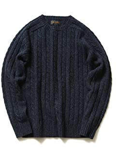 Cable Crewneck Sweater 11-15-0538-103: Navy