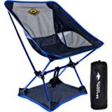 Camp Chair by Mountain Designs | Ultralight Camping Chair for Travellers | Durable Portable Chair Supports 270lbs | Quick Set