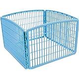 IRIS USA 24'' Exercise 4-Panel Pet Playpen without Door, Blue CI-604