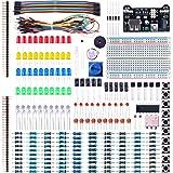 ELEGOO Electronic Fun Kit Bundle With Breadboard Cable Resistor, Capacitor, LED, Potentiometer (235 Items) for Arduino, Respb