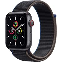 Newest Apple Watch SE (GPS + Cellular Model) - 44mm Space Gray Aluminum Case and Charcoal…