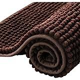 subrtex Bathroom Rugs Chenille Soft Short Plush Bath Mat Non-Slip Water Absorbing Quick Dry Machine Washable Carpet Gentsing(