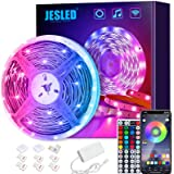JESLED WiFi LED Strip Lights for Bedroom 5m, Compatible with Alexa and Google Home, Smart Led Strip Lights with 44 Keys RF Re