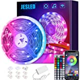 JESLED WiFi LED Strips Lights for Bedroom 5m, Compatible with Alexa and Google Home, Smart Led Strip Lights with 44 Keys RF R