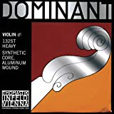 Thomastik Single string for Violin 4/4 Dominant - D-string Synthetic Core, Aluminium Wound, Strong