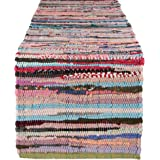 """DII 100% Cotton, Everyday Machine Washable Chindi Rag Table Runner, 14 x 72"""", Multi Color"""