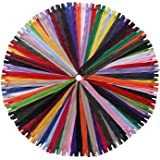 YAKA 60 Pack of 22 Inches Mix Nylon Coil Zippers Bulk - Supplies Zippers for Tailor Sewing Crafts (20 Color) (22 inch-Pack of