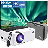 Gobran Projector Native 1080P, 8000L Full HD Video Mini Projector, Protable Outdoor Movie Projector 4K Supported with 50000 H