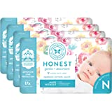 The Honest Company Diapers - Newborn, Size 0 - Rose Blossom Print TrueAbsorb Technology Plant-Derived Materials Hypoallergeni