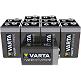 Varta Industrial 9V Alkaline Battery 6LR61, Power on Demand, Frustration Free Packaging - Pack of 10