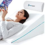 Relax Support RS6 Wedge Pillow Whole Memory Foam 3-in-1 Technology Large Adjustable Bed Pillow for Reflux Reading Snoring Sle