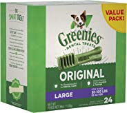 GREENIES Original Large Dental Dog Treat, 1kg Box (24 treats)