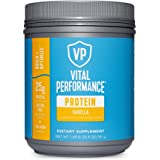 Vital Performance Protein Powder, 25g Lactose-Free Milk Protein Isolate Powder, NSF for Sport Certified, 10g Grass-Fed Collag