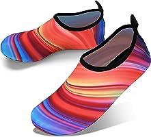 JOTO Water Shoes for Women Men Kids, Barefoot Quick-Dry Aqua Water Socks Slip-on Swim Beach Shoes for Snorkeling Surfing...