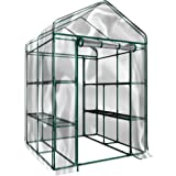 Home-Complete Walk-in Greenhouse- Indoor Outdoor with 8 Sturdy Shelves-Grow Plants, Seedlings, Herbs, or Flowers in Any Seaso