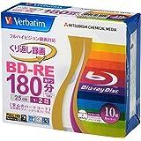 Verbatim バーベイタム くり返し録画用 ブルーレイディスク BD-RE 25GB 10枚 ホワイトプリンタブル 片面1層 1-2倍速 VBE130NP10V1