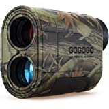 Gogogo 6X Hunting Laser Rangefinder Bow Range Finder Camo Distance Measuring Outdoor Wild 650/1200Y with Slop High-Precision