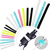 Avantree Pack of 50 Reusable Cord Organizer Keeper Holder, Fastening Cable Ties Straps for Earbud Headphones Phones Electroni