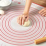 "Pastry Mat for Rolling Dough, WeGuard 20x16"" Large Silicone Pastry Kneading Mat Board with Measurements Marking BPA Free Food"
