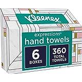 Kleenex Expressions Hand Towels, Disposable Hand Paper Towels, 60 Towels per Box, 6 Pack (360 Count Total)