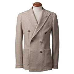 Tagliatore Cotton Knit Double Breasted Jacket