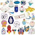 Enamel Lapel Pin Set 25 PCS Cartoon Cute Backpack Jackets Pin DIY Crafts Hard Lapel Brooch for Kid's Women Christmas Gifts(C)