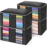 Clothes Storage Bags,king do way Closet Storage Bag 23.6'' x 16.9'' x 13.7'' 2 Section Comforter Bags with Strengthen Handle,