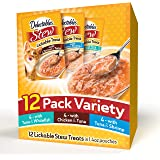 Delectables Stew Lickable Wet Cat Treats - Chicken, Tuna & Whitefish - 12 Pack Variety