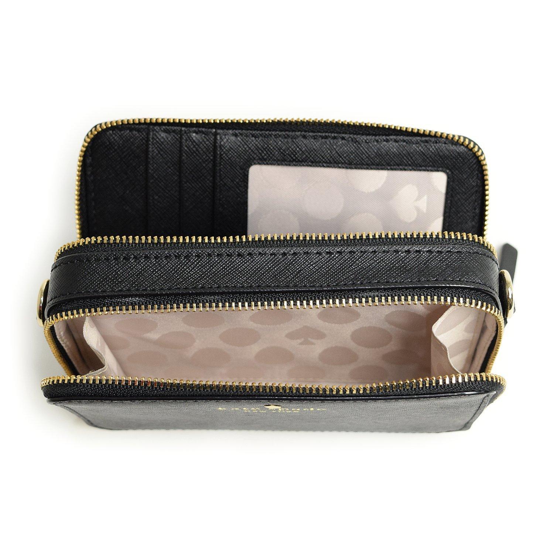 ケイトスペード スマホが入るお財布ポシェット ipone6が収納可能&クリア窓のパスケースつき ミニショルダーバッグ