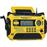 Kaito Voyager Pro KA600 Digital Solar Dynamo Crank Wind Up AM/FM/LW/SW & NOAA Weather Emergency Radio with Alert, RDS & Smart