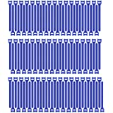 Pasow 100pcs Reusable Fastening Cable Ties Adjustable Wire Management (8 Inch, Blue)