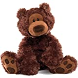 GUND - Philbin Dark Brown Bear 33cmStuffed Plush Toy,30 x 23 x 18cm