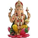 JFSM INC Rare Ganesh (Ganesha) Hindu Elephant God of Success Statue Colored