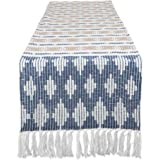 """DII CAMZ11284 Braided Cotton Table Runner, Perfect for Spring, Fall Holidays, Parties and Everyday Use 15x72"""" French Blue"""