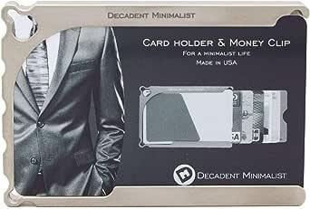 チタンブロック削り出し クレジットカードケース Decadent Minimalist デカデント ミニマリスト チタン モデル