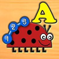 子供たちは虫文字数ロジックや迷路ゲーム - 幼児のための楽しみを学習