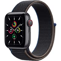 Newest Apple Watch SE (GPS + Cellular Model) - 40mm Space Gray Aluminum Case and Charcoal…