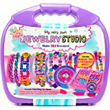 Just My Style My Very Own Jewelry Studio by Horizon Group Usa,DIY Personalized Bracelet Making Kit With 1700+ Beads & 11 Yd o