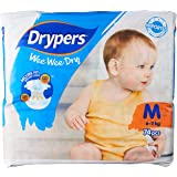 Drypers Wee Wee Dry Diapers, M, Case, 3 packs x 74 Count