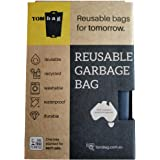 Reusable Bags for Garbage - Eco Friendly Kitchen Tidy Bag Made with Recycled PET Bottles - Waterproof, Durable & Washable - F