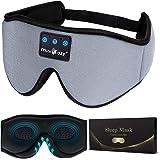 MUSICOZY Sleep Headphones 3D Bluetooth Sleep Mask, Wireless Music Eye Mask with Sleeping Headphones for Side Sleepers, Air Tr
