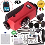maXpeedingrods 5KW 12V Fuel Diesel Air Heater 10L Tank with Remote Controller LCD Thermostat Monitor Silencer for Car Bus Tru