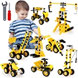 Tobeape 8 in 1 Building Toys Set,100PCS Learning Construction Toys for Kids Ages 5+,Erector Set Building Blocks Education Toy