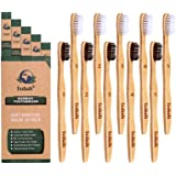 Bamboo Toothbrush Biodegradable, BPA Free Soft Bristles Toothbrushes, Natural, Eco-Friendly, Green and Compostable, Pack of 1