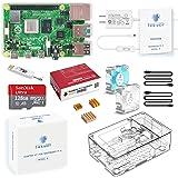 TRASKIT Raspberry Pi 4 Model B /ラズベリーパイ4B(8GB RAM)技適マーク付/MicroSDHCカード128GB NOOBSプリインストール/簡単に取り付けるケース/5.1V/3A Type-C スイッチ付電源/2